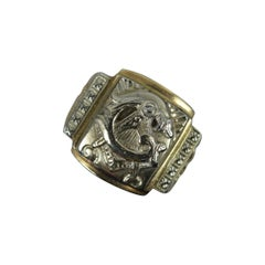 Rare Vintage Masonic 10ct Gold Signet Ring