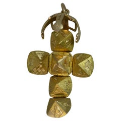 Rare Vintage Masons Masonic Solid 9 Carat Gold Ball Fob Pendant