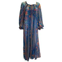 Rare Vintage Print Ossie Clark Gown