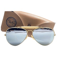 Rare Vintage Ray Ban Aviator Gold Double Mirror 1980's B&L Sunglasses