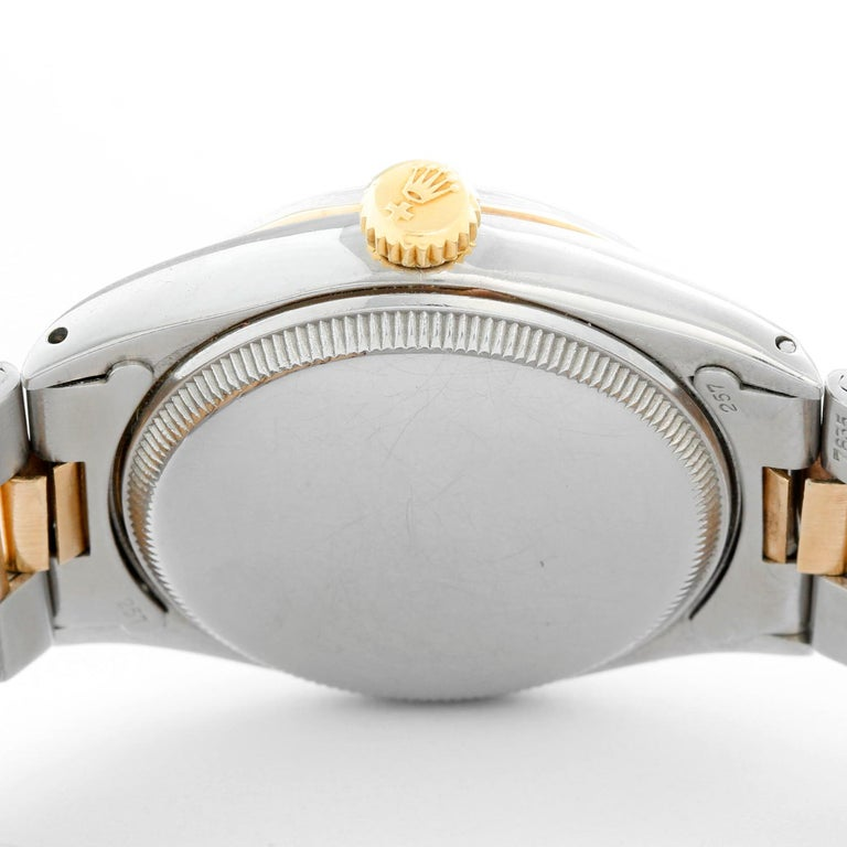 Rare Vintage Rolex Oyster Perpetual Two-Tone Men's Watch Ref 6286 In Good Condition For Sale In Dallas, TX