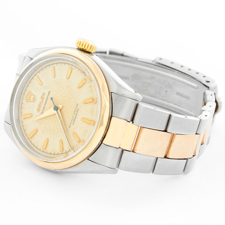 Rare Vintage Rolex Oyster Perpetual Two-Tone Men's Watch Ref 6286 For Sale 1