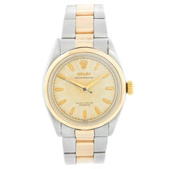 Rare Vintage Rolex Oyster Perpetual Two-Tone Men's Watch Ref 6286