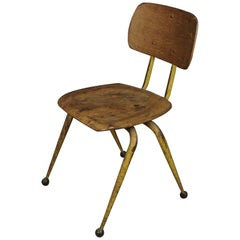 Rare Vintage School Chair from France, circa 1950
