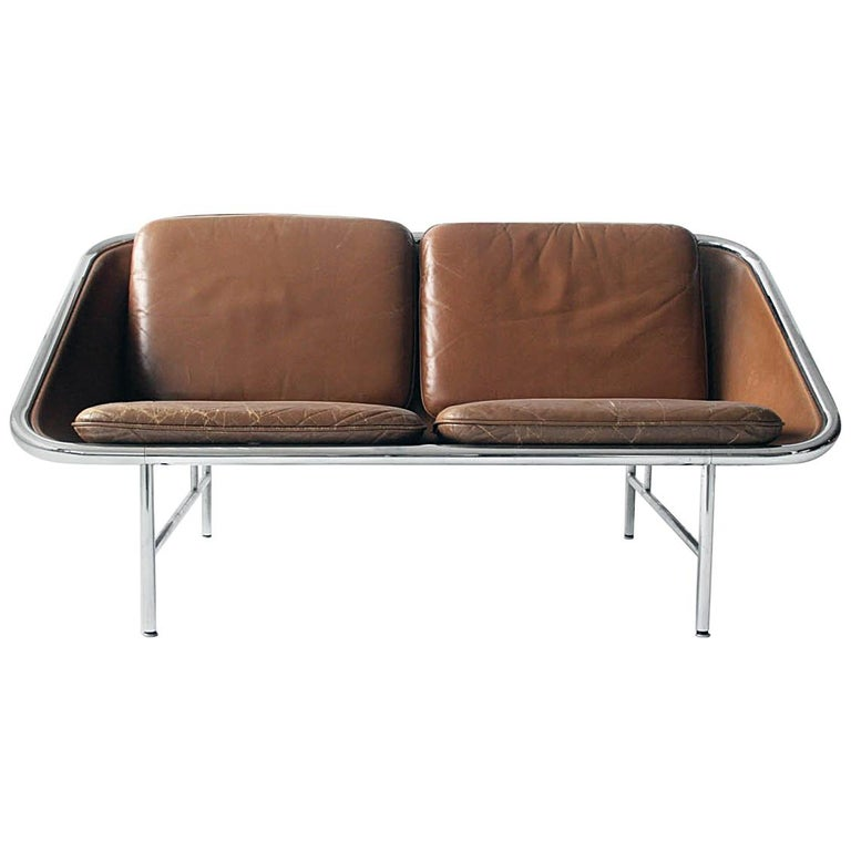 Rare Vintage Two Seat Sling Sofa By George Nelson For Herman Miller