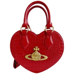 Rare Vivienne Westwood Red Chancery Heart Bag
