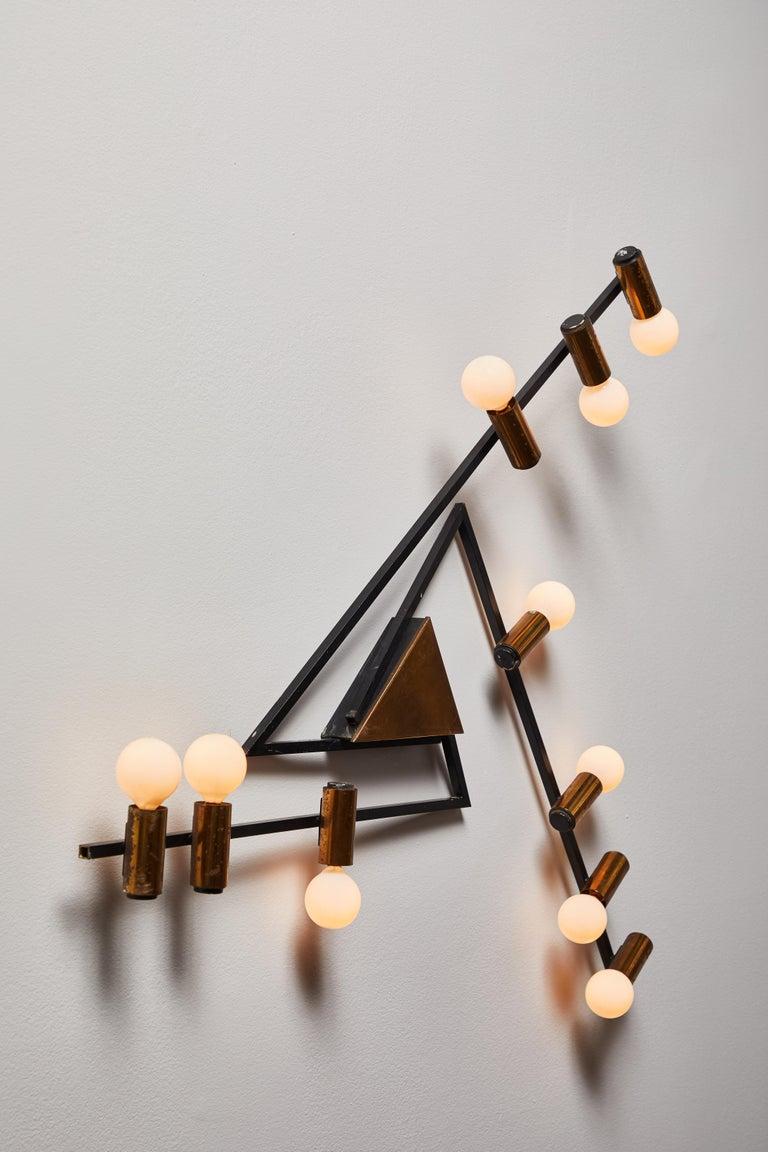 Mid-Century Modern Rare Wall Light by Giampiero Aloi for Stilnovo For Sale