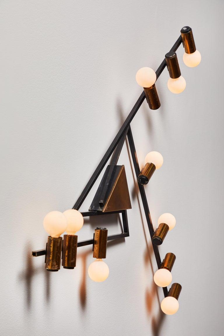 Italian Rare Wall Light by Giampiero Aloi for Stilnovo For Sale
