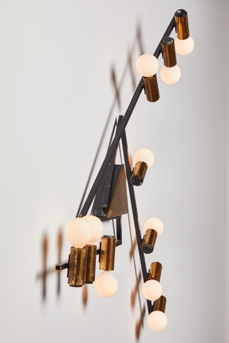 Enameled Rare Wall Light by Giampiero Aloi for Stilnovo For Sale