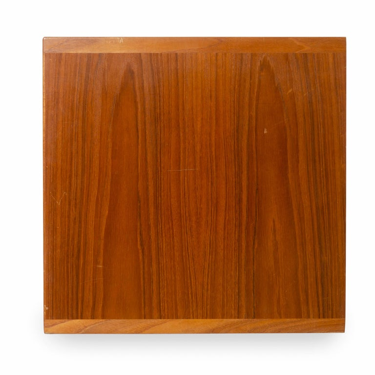 Mid-20th Century Rare Wall Mount Teak Credenza by Hans J. Wegner for Johannes Hansen Made in 1952 For Sale