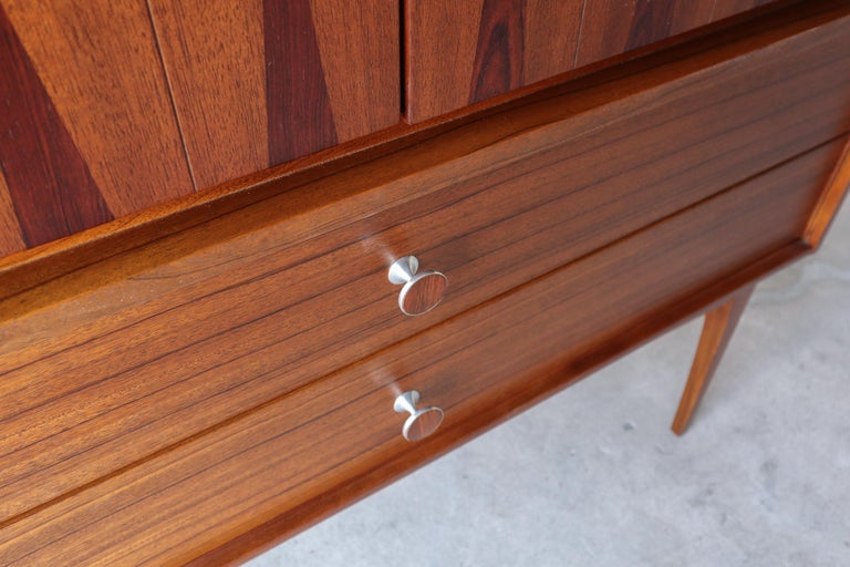 20th Century Rare Walnut and Rosewood Mid Century Armoire Dresser by Lane For Sale