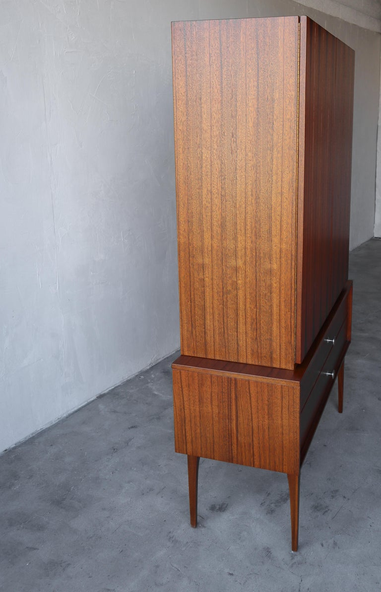Rare Walnut and Rosewood Mid Century Armoire Dresser by Lane For Sale 1