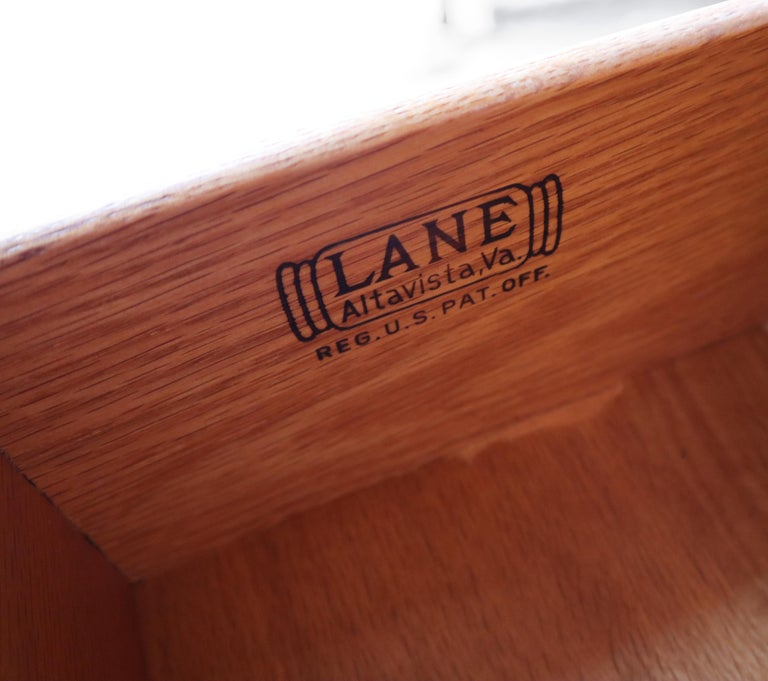 Rare Walnut and Rosewood Mid Century Dresser by Lane For Sale 5