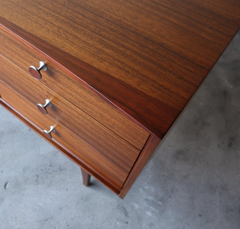Rare Walnut and Rosewood Mid Century Dresser by Lane For Sale 1