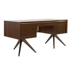 Rare Walnut Desk by Vladimir Kagan for Grosfeld House, circa 1950s