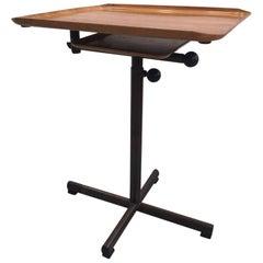 "Rare Walnut Plywood ""Caruelle"" Utility Table, Switzerland, circa 1950"
