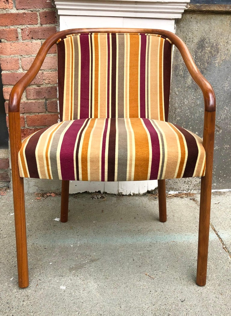 Mid-20th Century Rare Ward Bennett Settee and Side Chair in Vintage Fabric For Sale