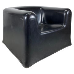 "Rare Wendell Castle Space Age Modernist ""Throne"" Chair, Black Fiberglass"