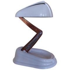 Rare White Art Deco Desk Lamp Jumo Model Bolide, 1945