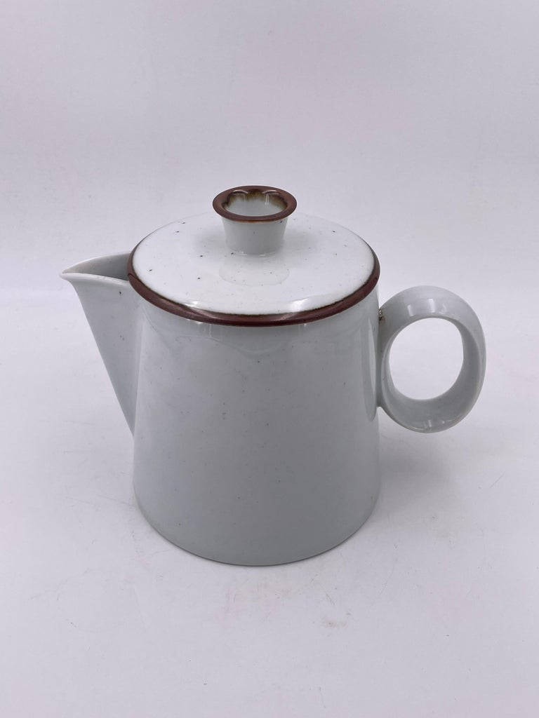 Great design on this elegant water pitcher in white porcelain, by dank design excellent condition, no chips or cracks, circa 1960s.