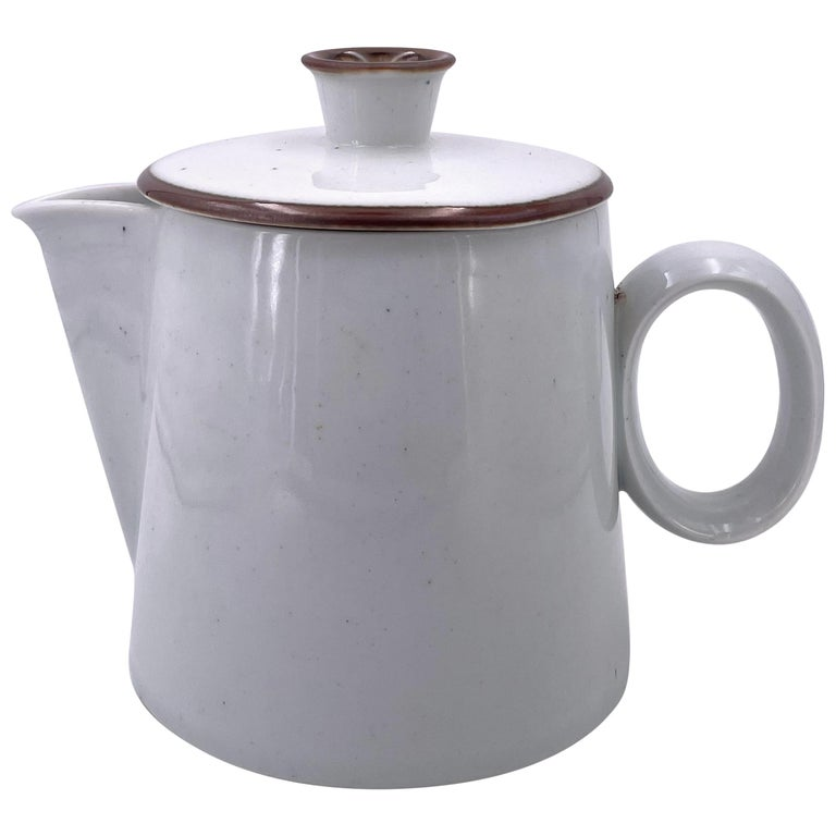 Rare White Porcelain Coffee Pot by Dansk Designs, Denmark For Sale