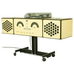 "Rare White ""RR126"" Stereo System by Achille & P.G. Castiglioni for Brionvega"