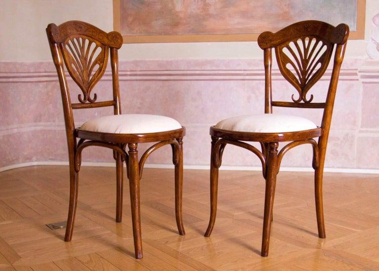 Austrian Rare Wien J&J Kohn Pair of Chairs For Sale