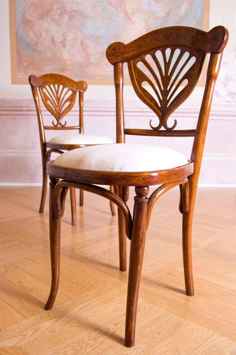 Anodized Rare Wien J&J Kohn Pair of Chairs For Sale