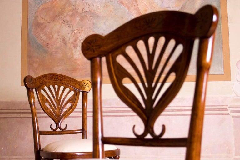 Rare Wien J&J Kohn Pair of Chairs In Good Condition For Sale In Gyermely, Komárom-Esztergom