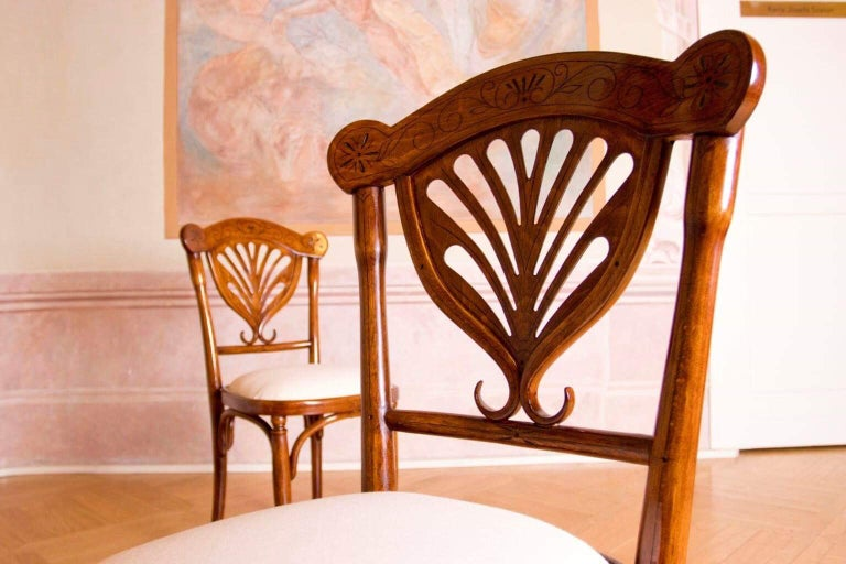 Bentwood Rare Wien J&J Kohn Pair of Chairs For Sale