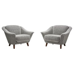 Rare Wilhelm Knoll Lounge Chairs in Bouclé, Germany, 1970s