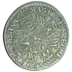 Rare Wiliam & Mary 1693 Original Shilling Coin Fine Plus Toned