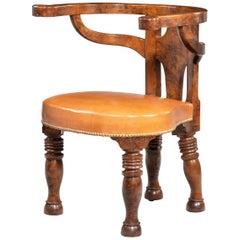 Rare William IV Period Desk or Library Chair