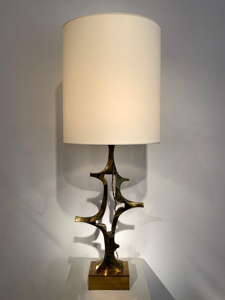 Rare Willy Daro Brass Table Lamp, 1970s For Sale 6