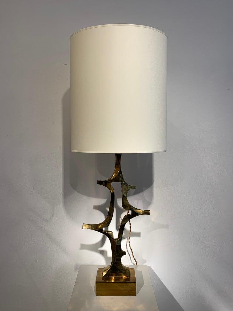 Rare Willy Daro Brass Table Lamp, 1970s For Sale 7
