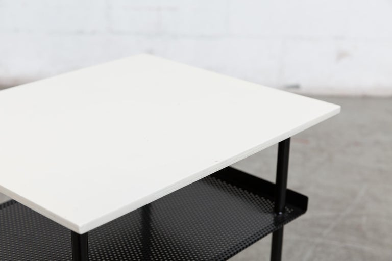 Rare Wim Rietveld for Auping Small Industrial Side Table For Sale 2