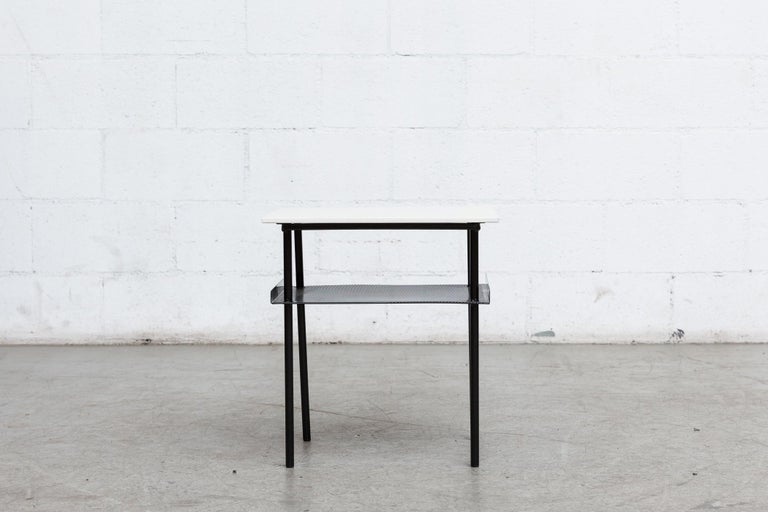 Dutch Rare Wim Rietveld for Auping Small Industrial Side Table For Sale
