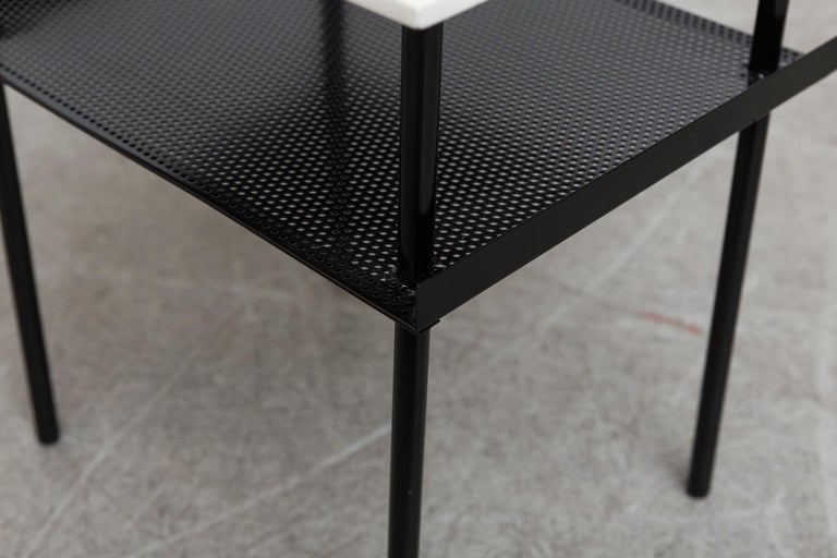 Metal Rare Wim Rietveld for Auping Small Industrial Side Table For Sale