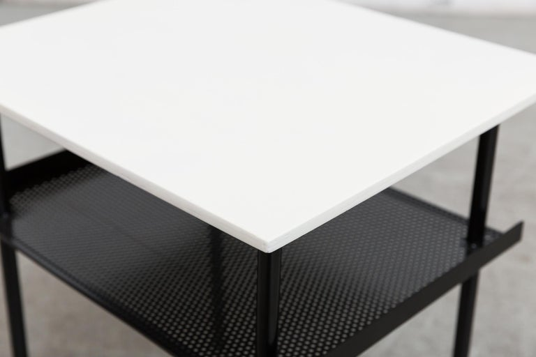 Rare Wim Rietveld for Auping Small Industrial Side Table For Sale 1