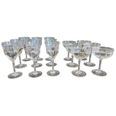 Rare Wine and Champagne Crystal Glasses