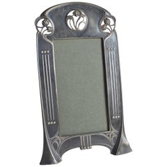 Rare WMF Art Nouveau Jugendstil Secession Pewter Photo Frame circa 1900, Germany