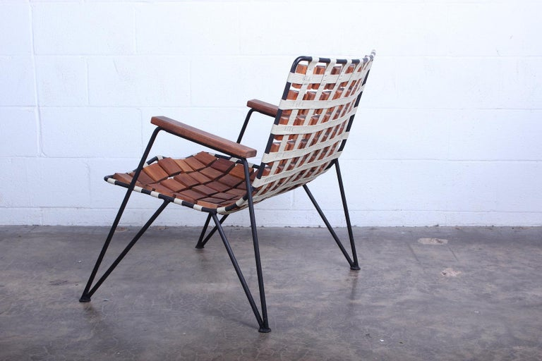 Rare Wood Block Lounge Chair by Maxwell Yellen, 1954 For Sale 5