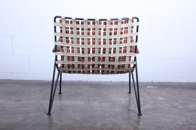 Rare Wood Block Lounge Chair by Maxwell Yellen, 1954 For Sale 6