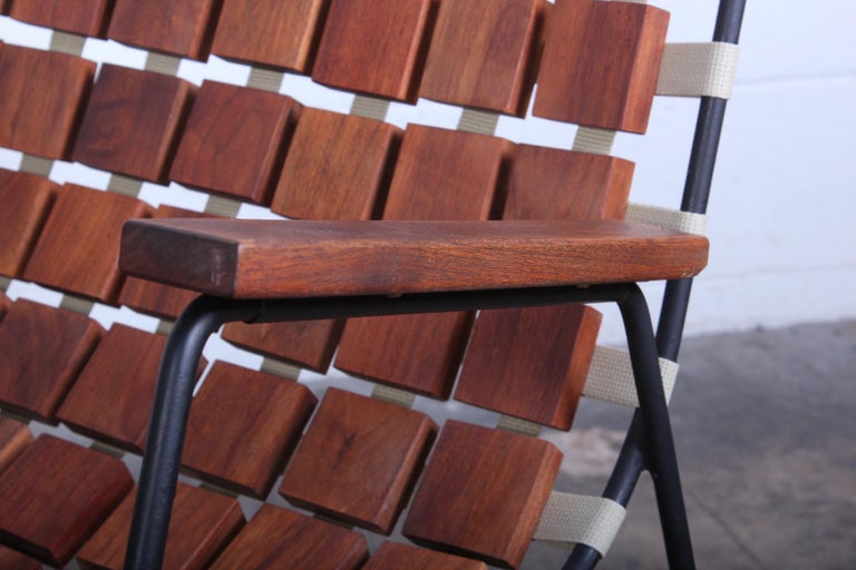 Rare Wood Block Lounge Chair by Maxwell Yellen, 1954 For Sale 3