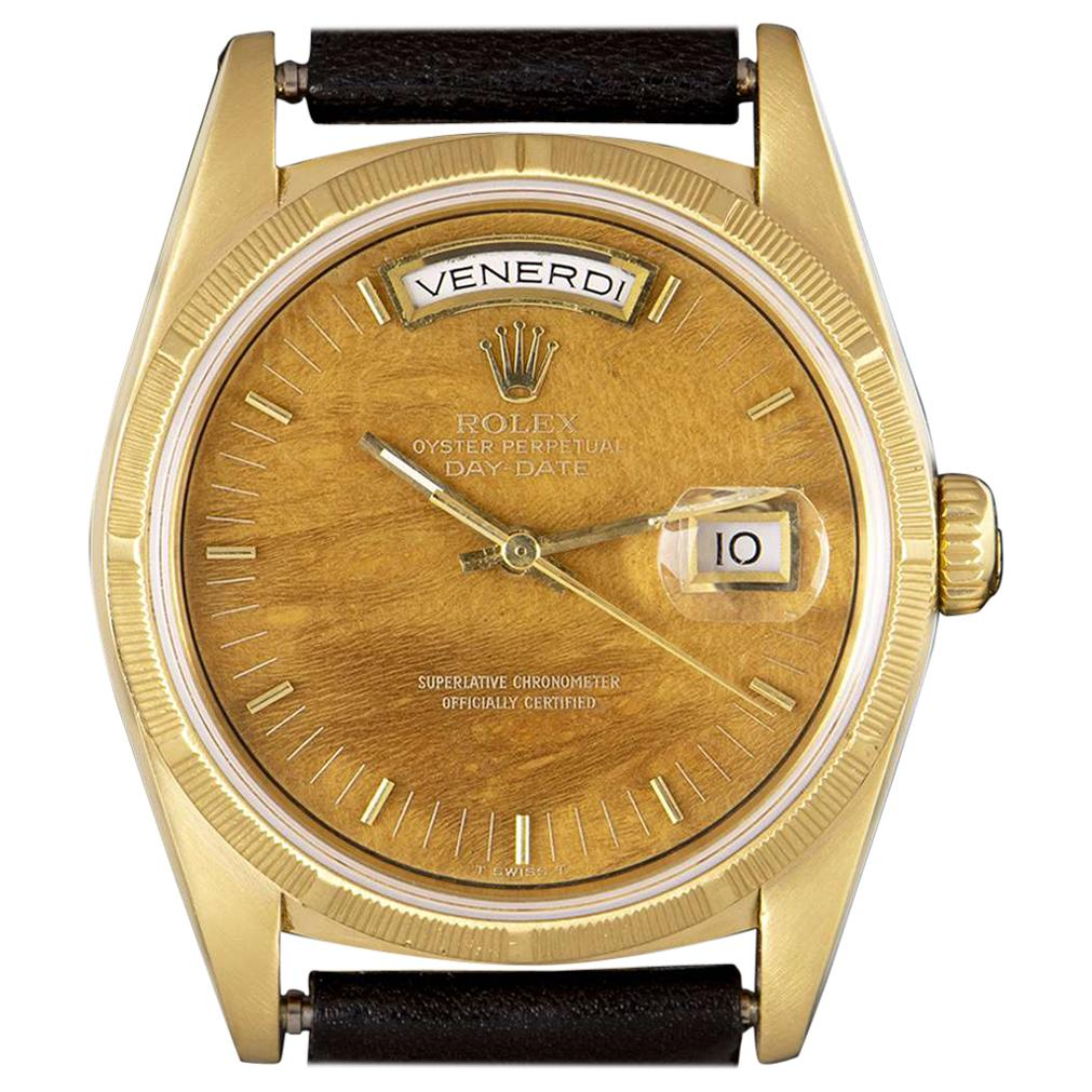 Rare Wood Dial Rolex Oyster Perpetual Day-Date 18248 Automatic Wristwatch