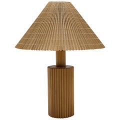 Rare Wooden Mid-Century Modern Table Lamp, 1960s Italy