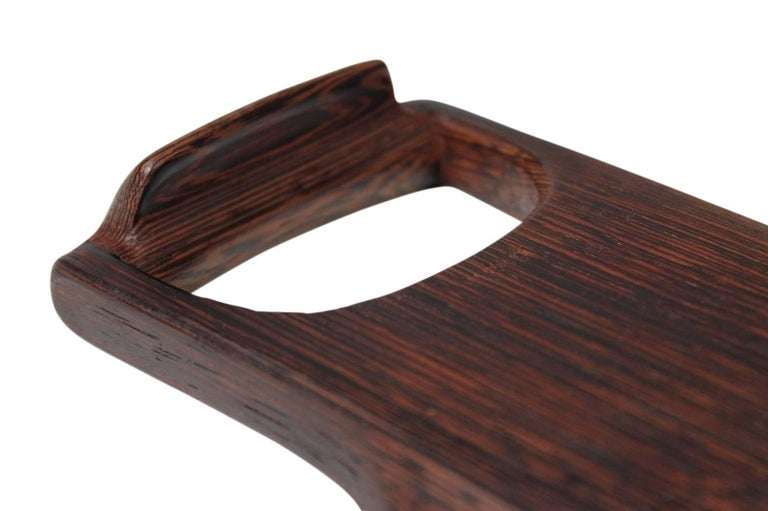 Rare Woods Bowl and Tongs by Dansk For Sale 8