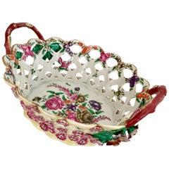 Rare Worcester Chestnut Basket with Provenance, circa 1770