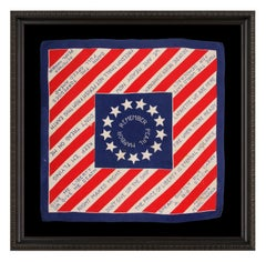 """Rare WWII Bandanna with """"Remember Pearl Harbor"""" Slogan"""