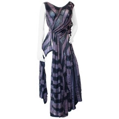 Rare Yohji Yamamoto Asymmetrical Stripe Dress